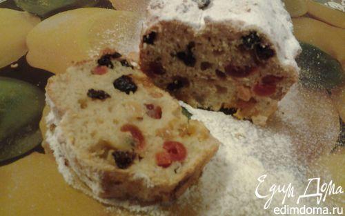 Рецепт Творожный кекс с сухофруктами