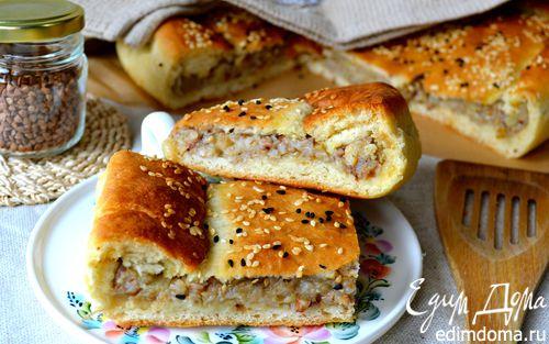 Рецепт Постный картофельный пирог с гречкой