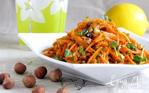 Рецепт Морковный салат с орехами и петрушкой