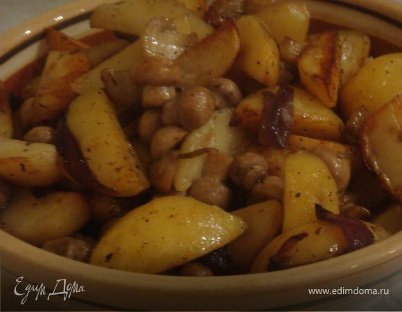 Картофель с грибами