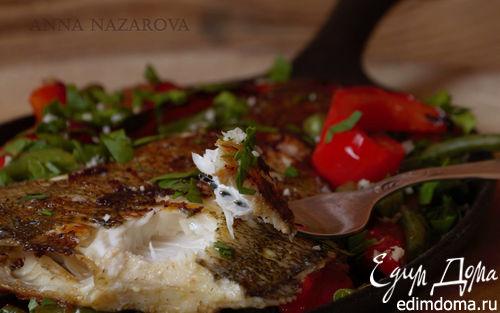 Рецепт Камбала-гриль с овощами