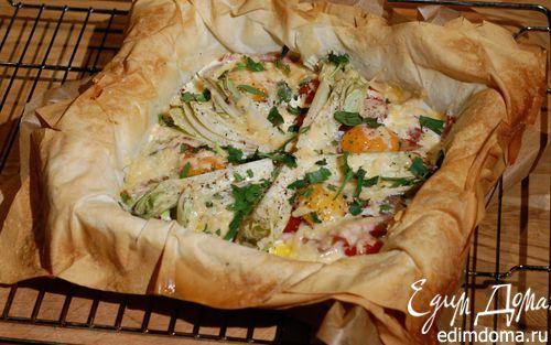 Рецепт Королевская яичница на тесте фило