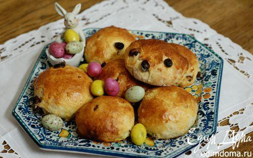 Рецепт Пасхальные булочки с творогом