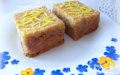 Рецепт Морковно-яблочный пирог с кокосом