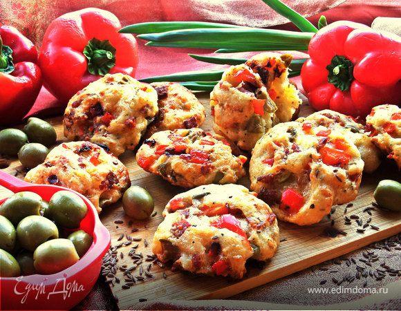 Ленивые пиццы-булочки на творожном тесте
