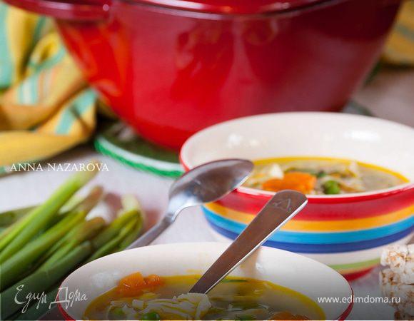 """Куриный суп с домашней лапшой """"Весенний"""""""