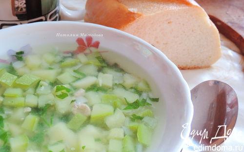 Рецепт Кабачково-картофельный суп с индейкой