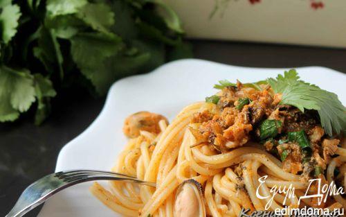Рецепт Спагетти с соусом из мидий