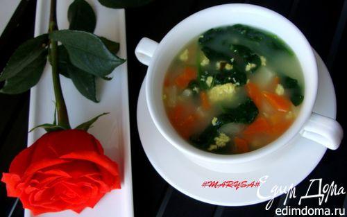 Рецепт Суп на сырной сыворотке со шпинатом (по желанию с говядиной)