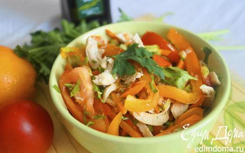Рецепт Салат из болгарского перца и помидоров