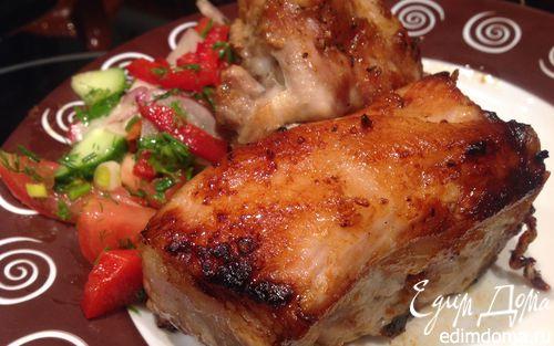 Рецепт Свиные ребрышки в медовой глазури с имбирем