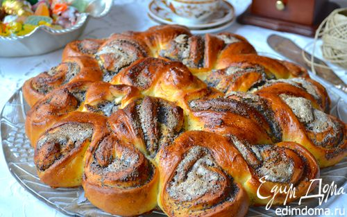 Рецепт Ажурный маковый пирог