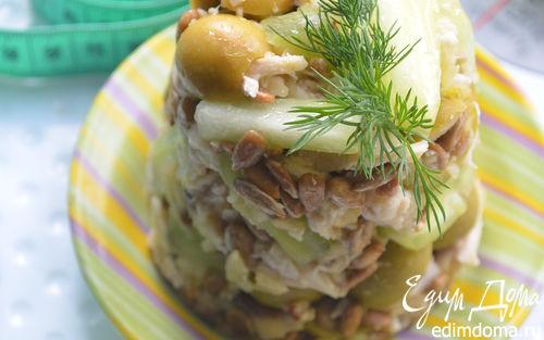 Рецепт Салат с оливками и стеблями сельдерея