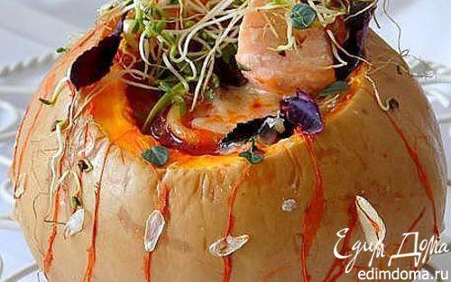 Рецепт Минестроне с рыбой и спагетти