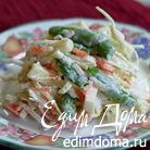 Салат с капустой и сладким стручковым горошком