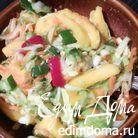 Капустный салат с манго