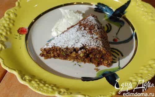 Рецепт Фисташковый пирог со взбитыми сливками