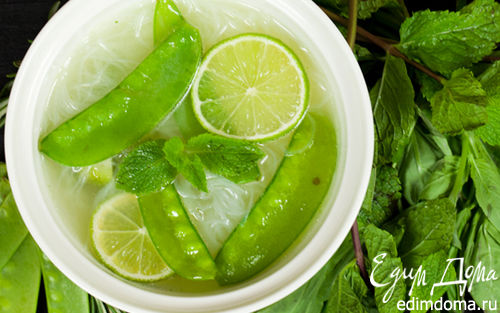 Рецепт Зеленый суп с базиликом и мятой