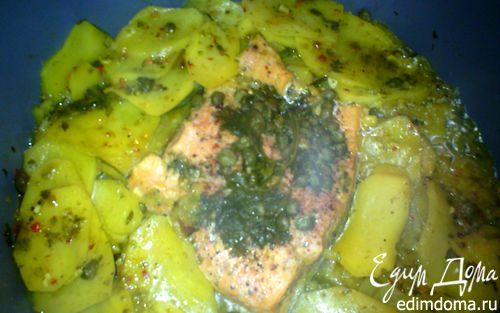 Рецепт Форель с овощами и каперсами в пикантном соусе