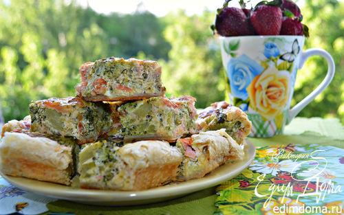 Рецепт Пирог с брокколи и горбушей