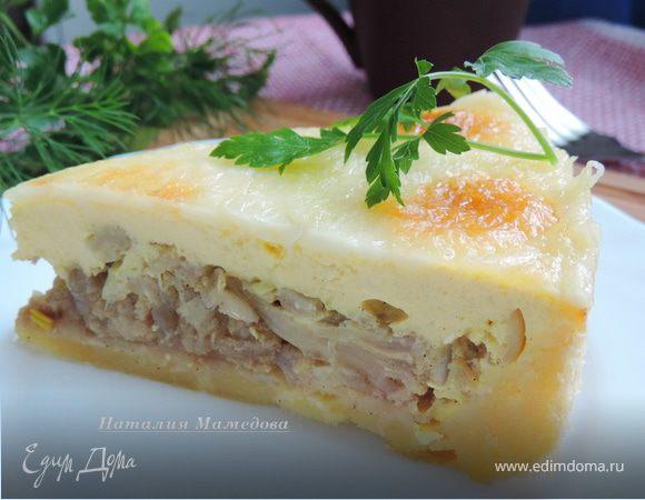 Луковый пирог с цветной капустой