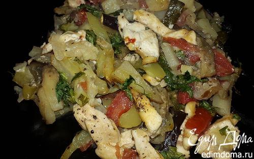 Рецепт Молодые овощи, запеченные с куриным филе