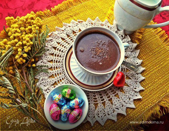 """""""Ленивый"""" горячий шоколад с мускатным орехом"""