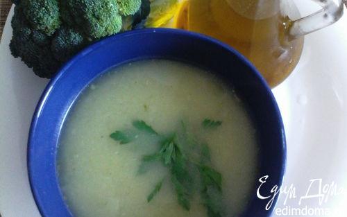 Рецепт Греческий суп-пюре с брокколи