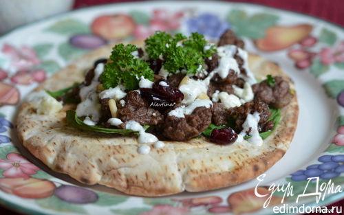 Рецепт Ужин в турецком стиле на лепешке