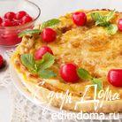 Яблочный омлетный пирог