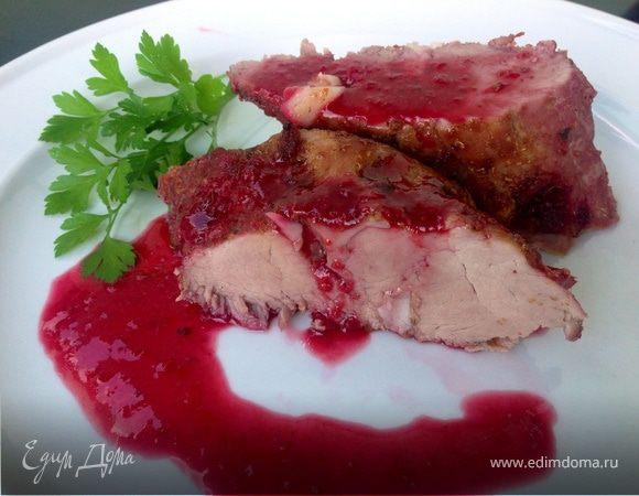 Свинина под вишневым соусом