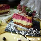 Трехслойных творожно-ягодный торт