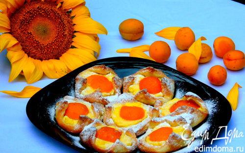 Рецепт Ватрушки с абрикосами
