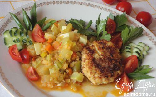 Рецепт Овощное рагу с красной чечевицей