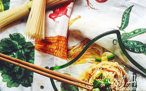 Рецепт Стир-фрай с рисовой лапшой и капустой