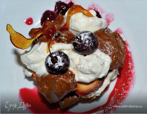 Дивный сырный десерт с белым и темным шоколадом