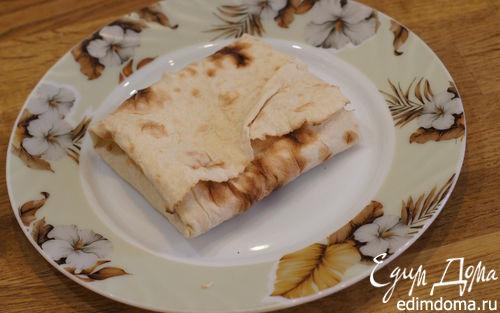 Рецепт Утренний бутерброд с лавашом в тостере