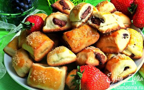 Рецепт Сметанное печенье с шоколадом и черникой (без яиц)
