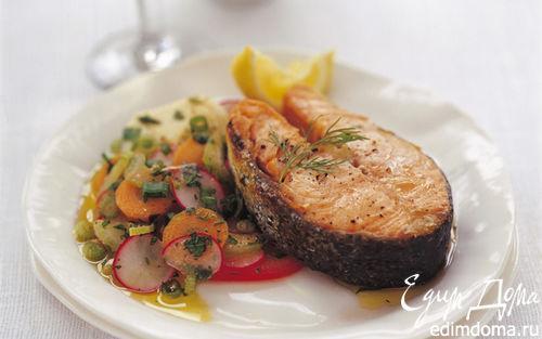 Рецепт Лосось в хрустящей корочке с маринованными овощами