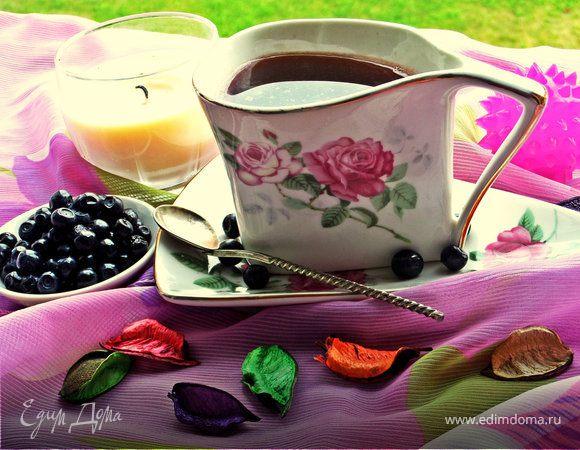 Кофе с черникой