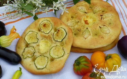 Рецепт Фокачча с цукини и репчатым луком