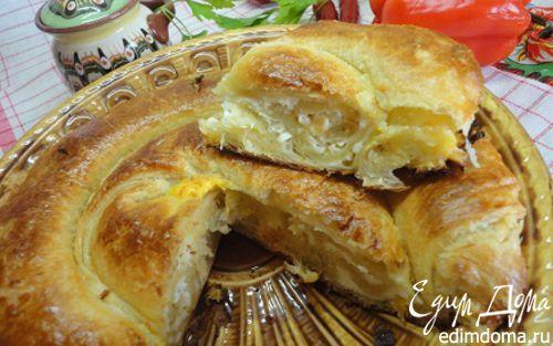 Рецепт Слоеный пирог с брынзой