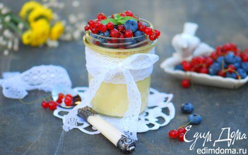 Рецепт Ванильный крем-брюле с ягодами