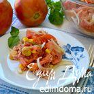 """Салат с помидорами и тунцом """"5 минут"""""""