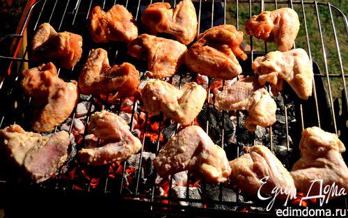 Рецепт Куриные крылышки-гриль в двух маринадах