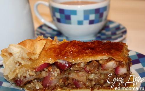 Рецепт Яблочная пахлава с лавандовым сиропом