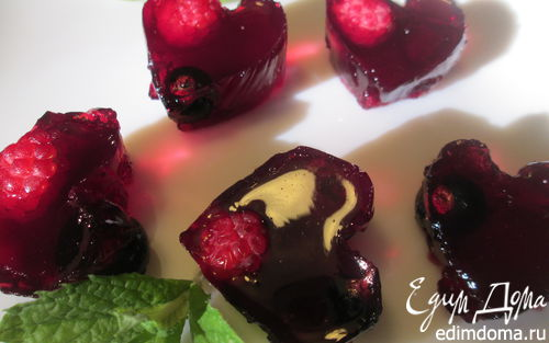 Рецепт Винное желе из ягод