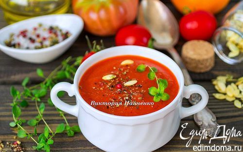 Рецепт Суп-пюре из запеченных перцев с апельсиновым соком