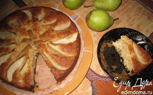 Рецепт Грушевый пирог с орехами и шоколадом