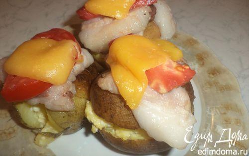 Рецепт Запечённая картошка с беконом и помидорами